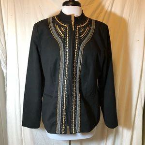 TanJay black jacket w metallic embellishment - 14